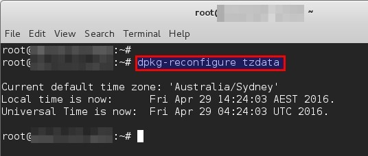Changing timezone in Linux - blackMORE Ops -2