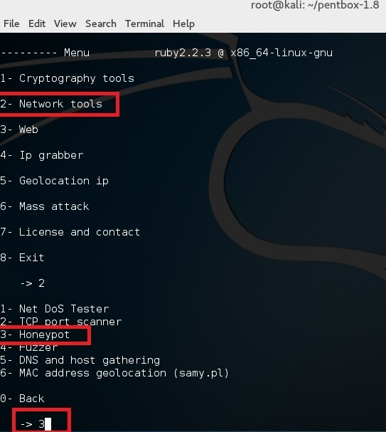 Set up a honeypot in Kali Linux - blackMORE Ops - 5